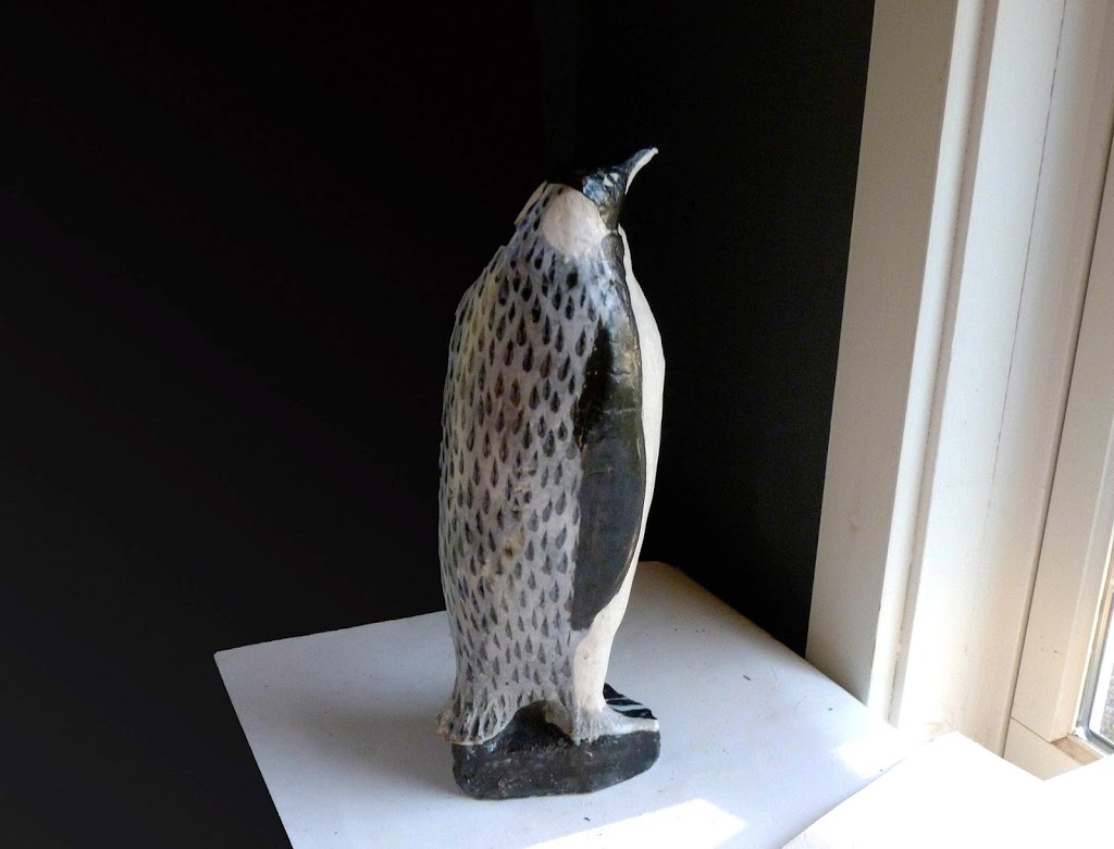 Vintage One of a Kind Emperor Penguin with spotted back