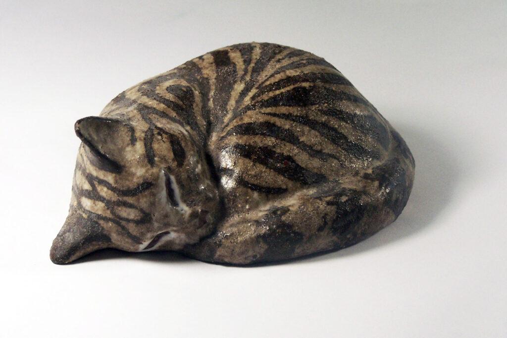 Sleeping Kitten by Christine in Brown Stripe