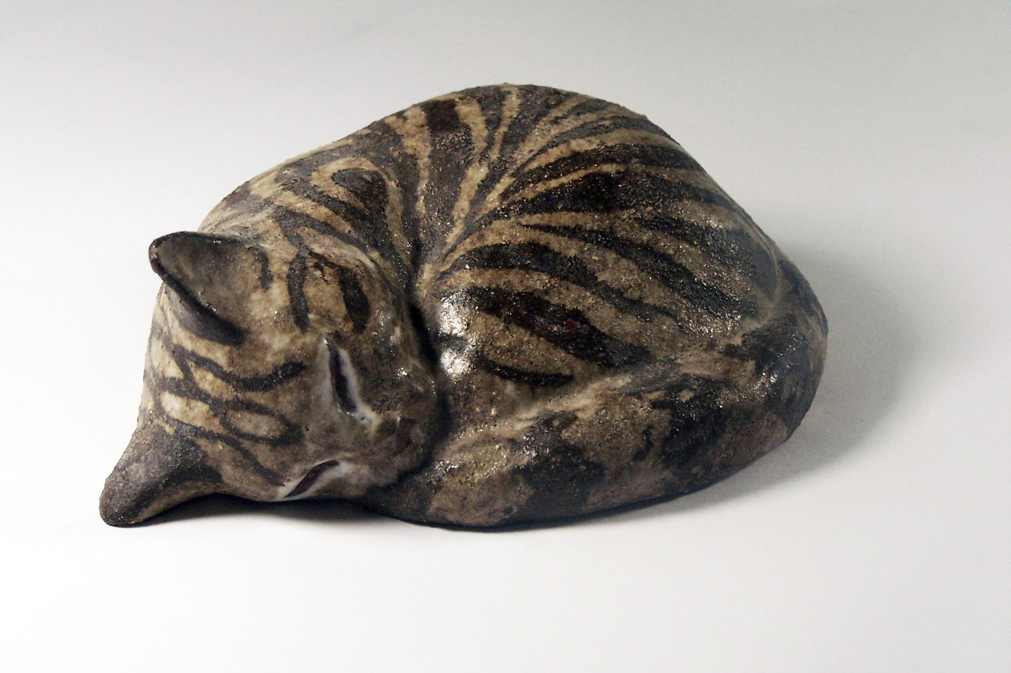 Sleeping Kitten by Christine in Brown Stripe