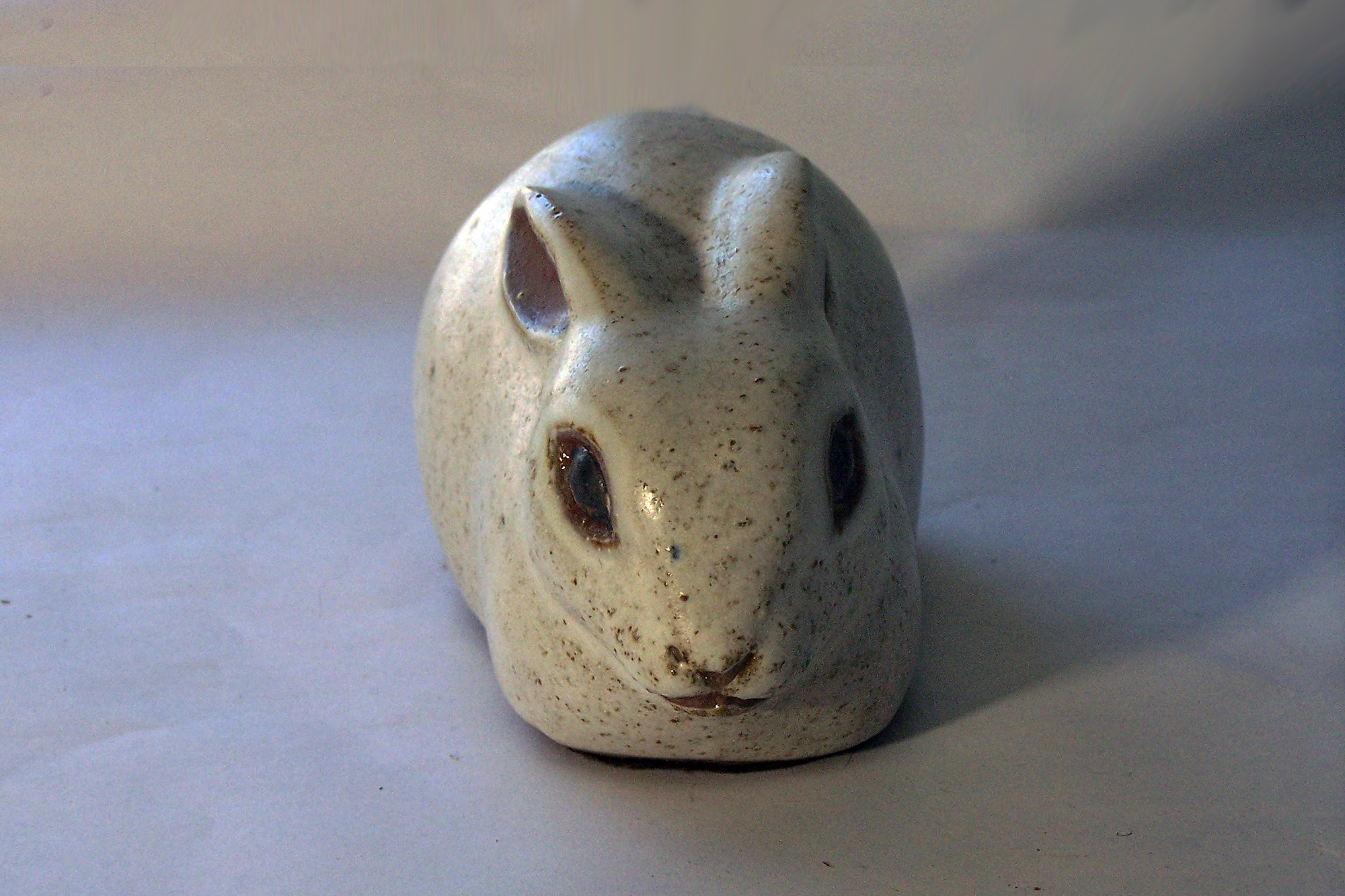 Rabbit with Ears Back in Natural Brown
