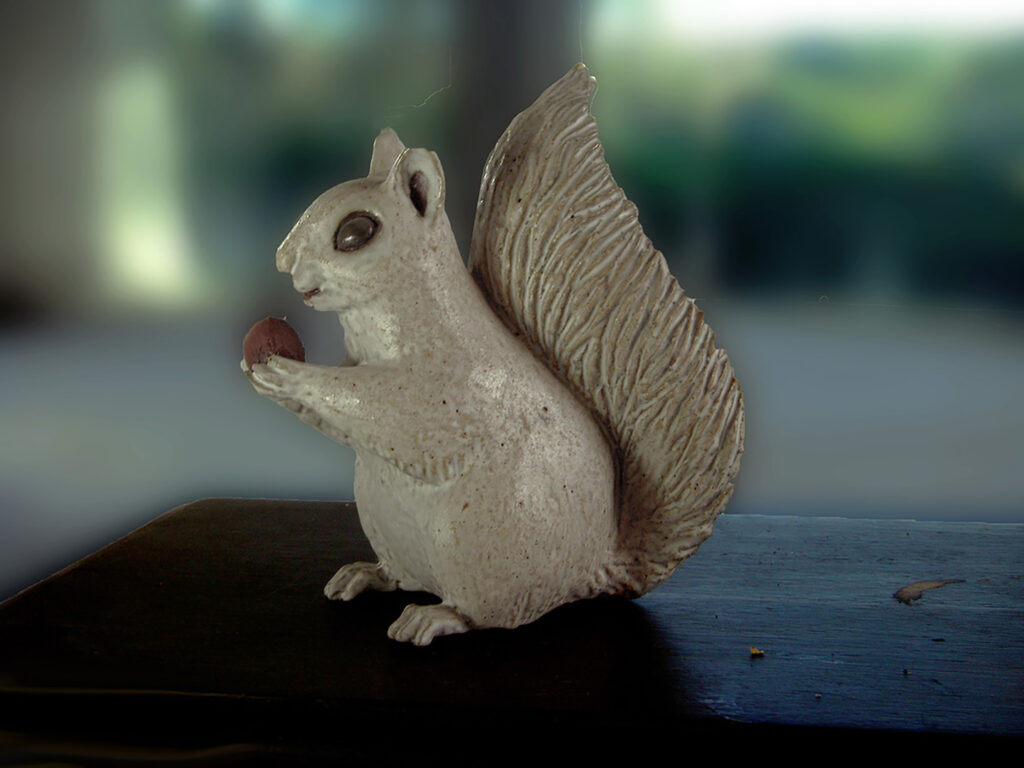Large Squirrel in Natural Brown