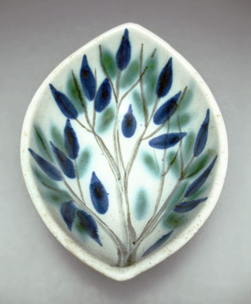 Boat Bowl in Blue Green Tree