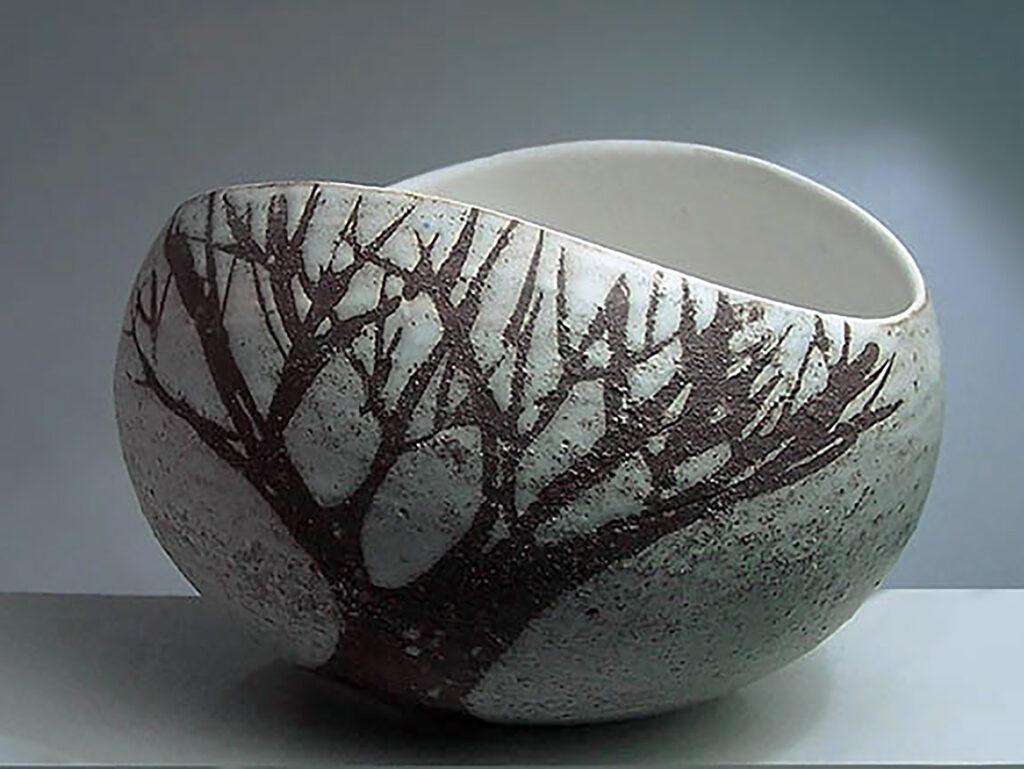 Salad Bowl, medium Brown Tree by Elise
