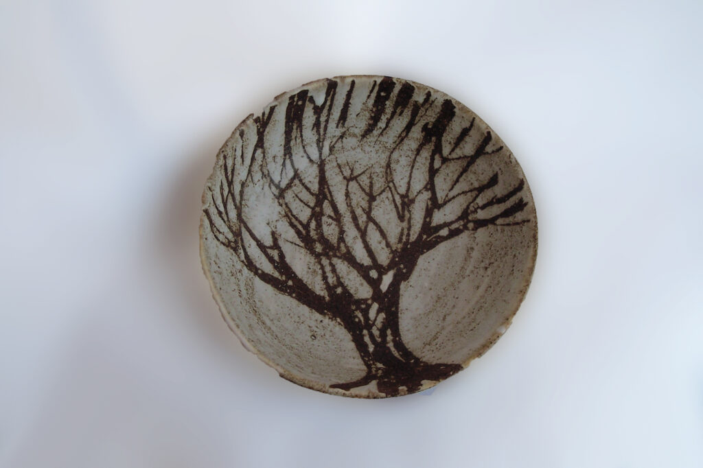 Eight Inch Bowl Brown Tree by Elise