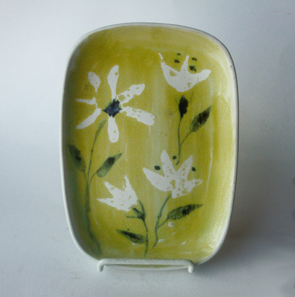 Rectangular Tray in One of a Kind Daisy on a Yellow Ground