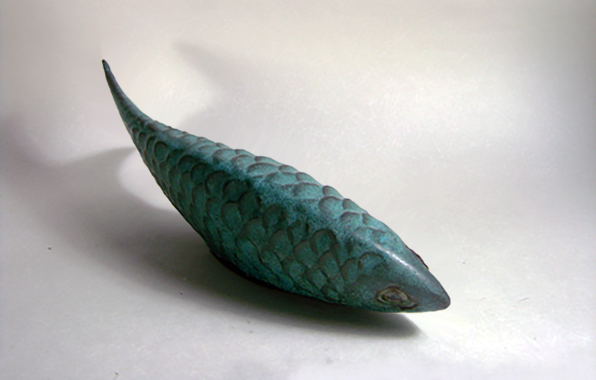 Carved Fish in Verdigris