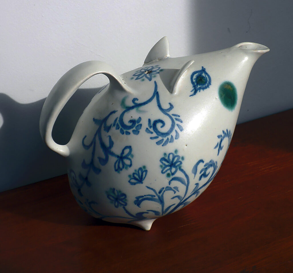 Blue-Green-Pig-Tea-Pot-By-Brenda-3-of-3
