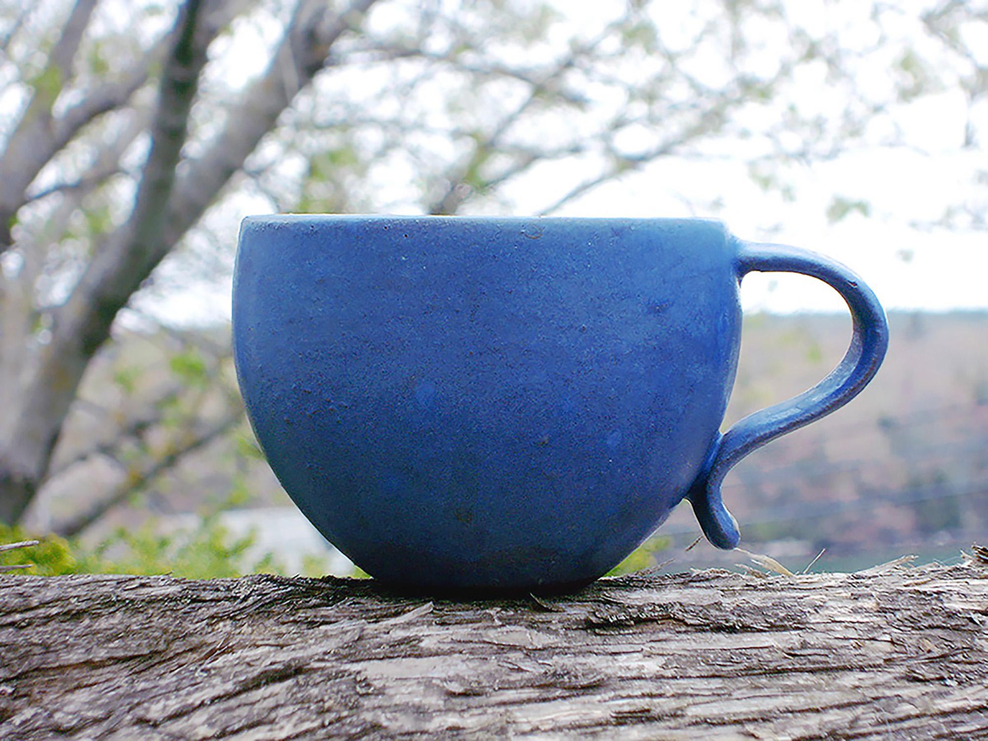 Tea Cup in Blueberry Glaze