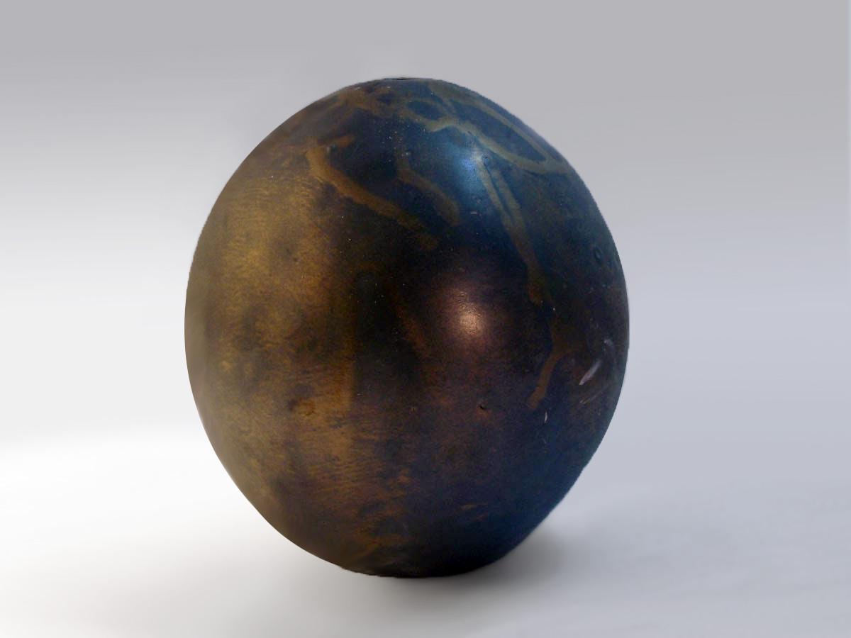 Melon Vase in Bronze Glaze