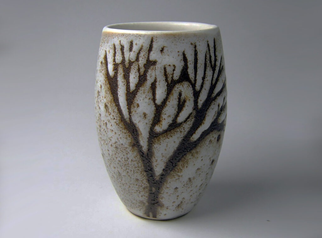 Tumbler in Brown Tree Pattern