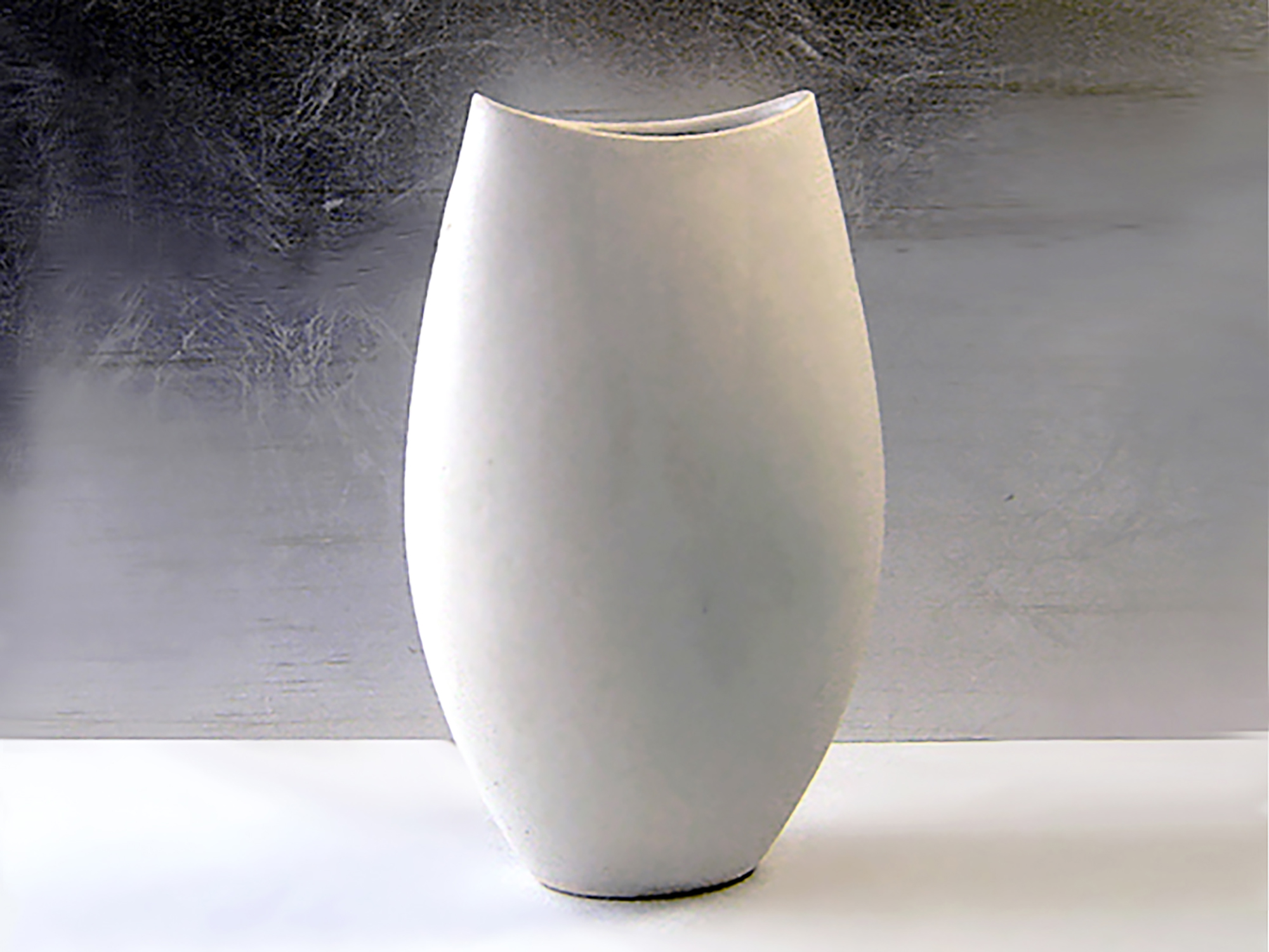 Ceramic Cycladic Vase in White GlazeA