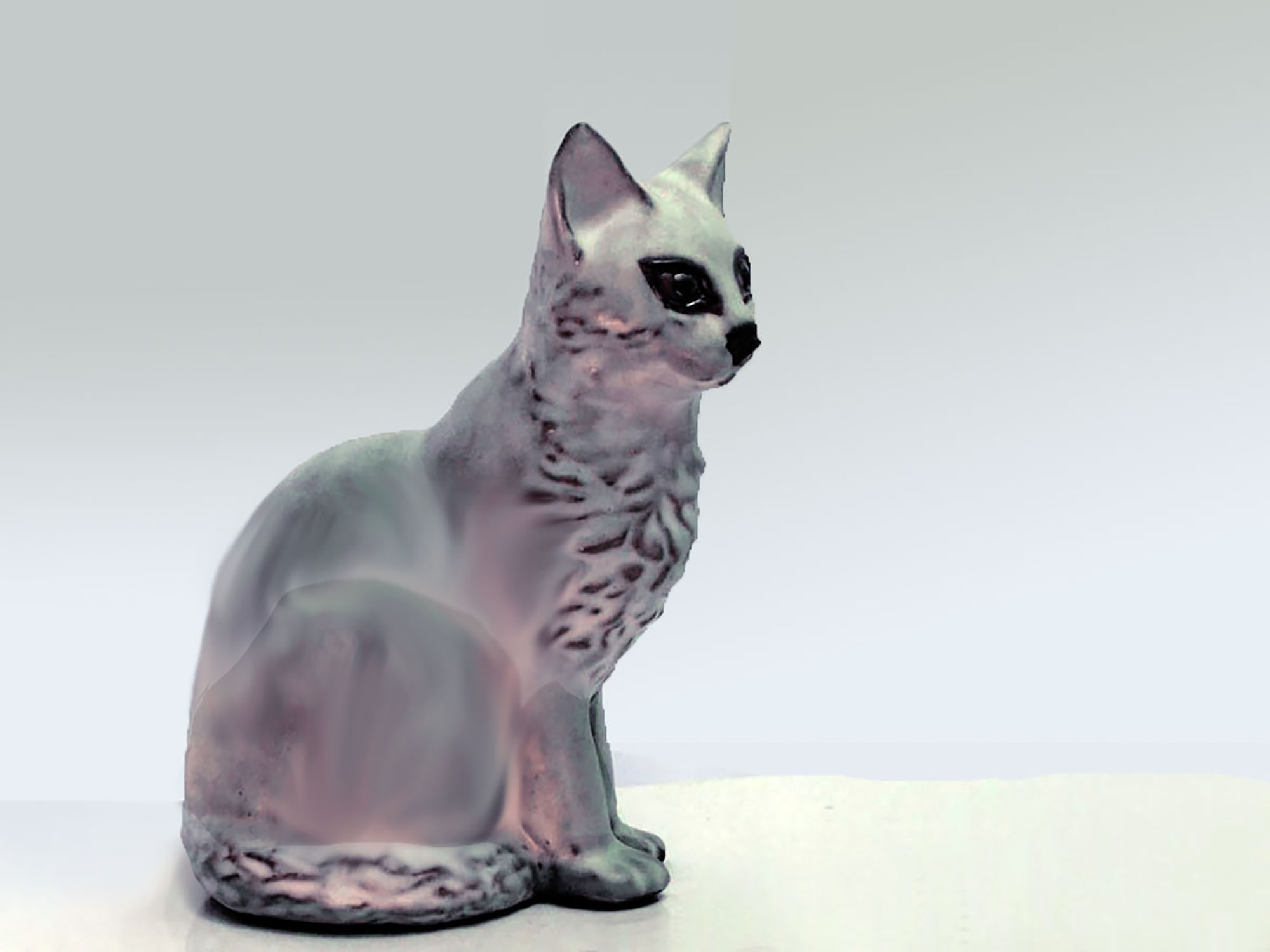 Sitting Cat by Christine in Gray