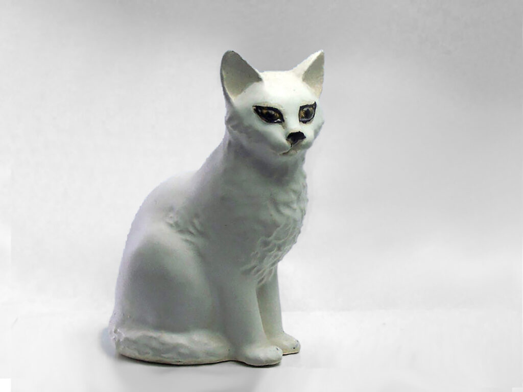 Sitting Cat by Christine in White