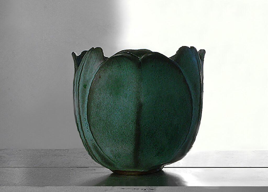 Tulip Vase in Verdigris