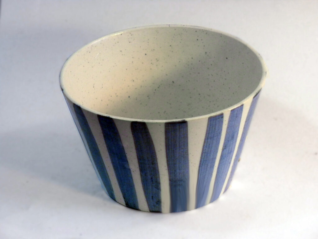 Large Chowder Bowl Blue Stripe