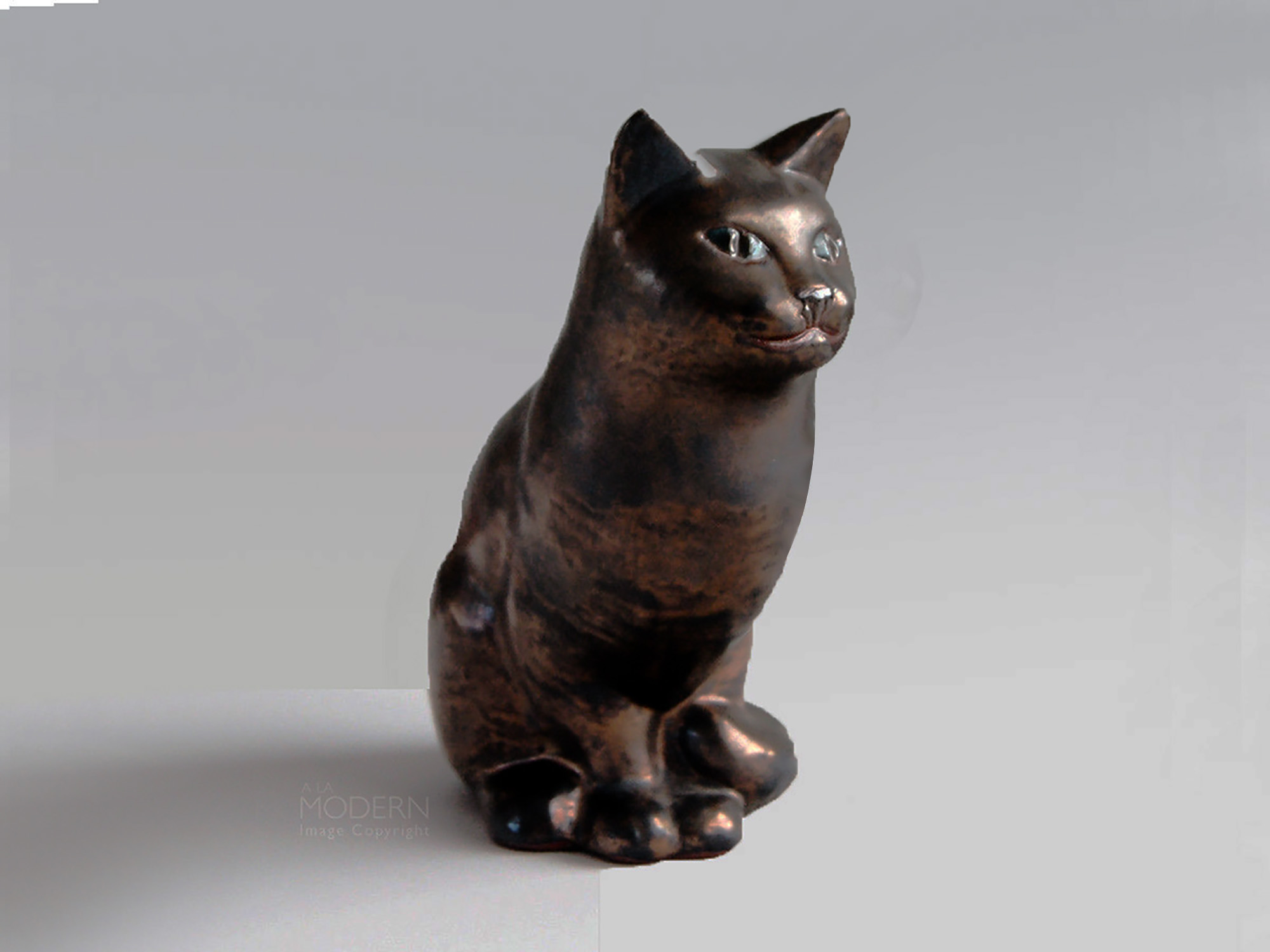 Sitting Cat By Brenda in Bronze