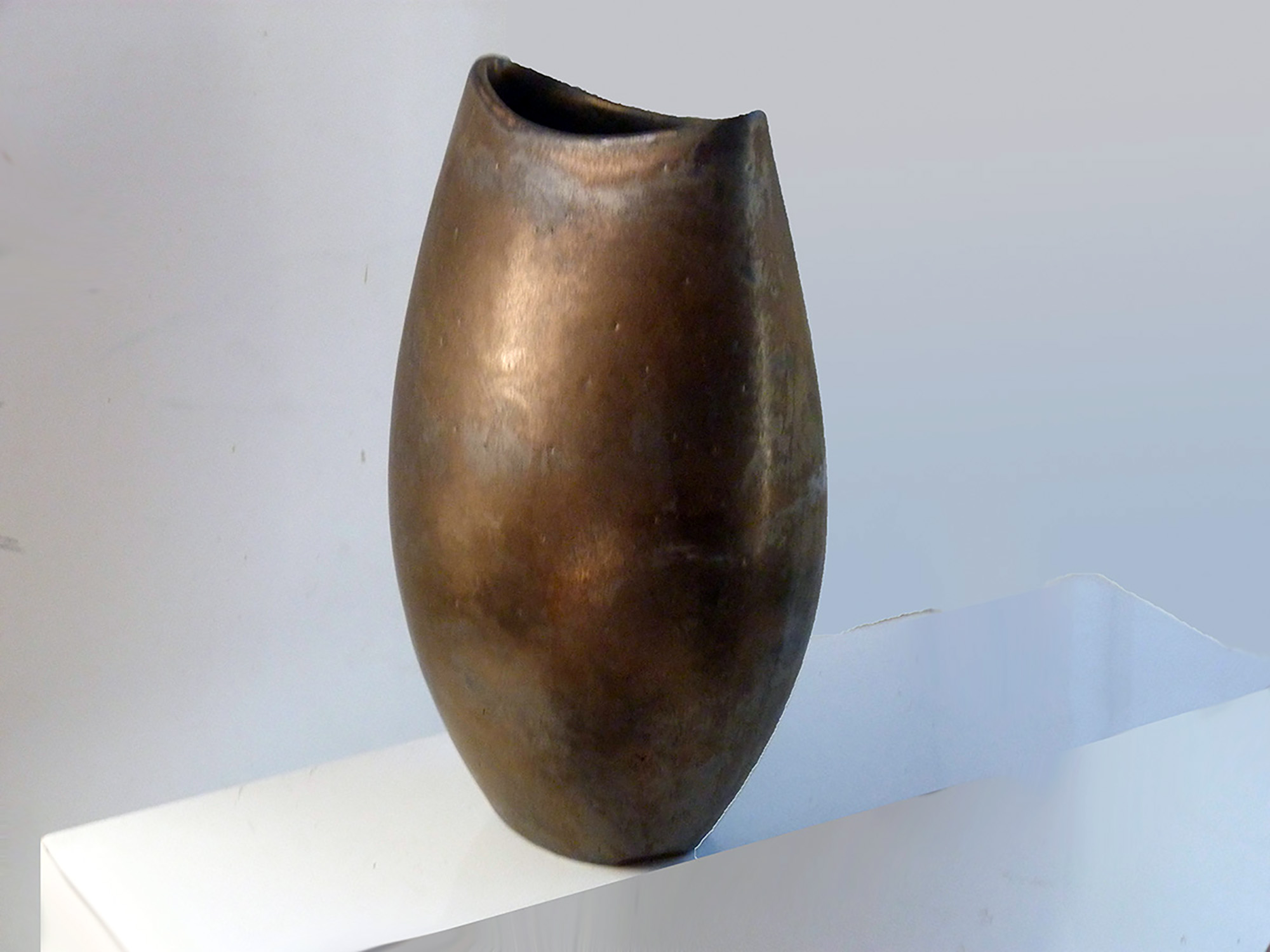 Cycladic Vase in Bronze