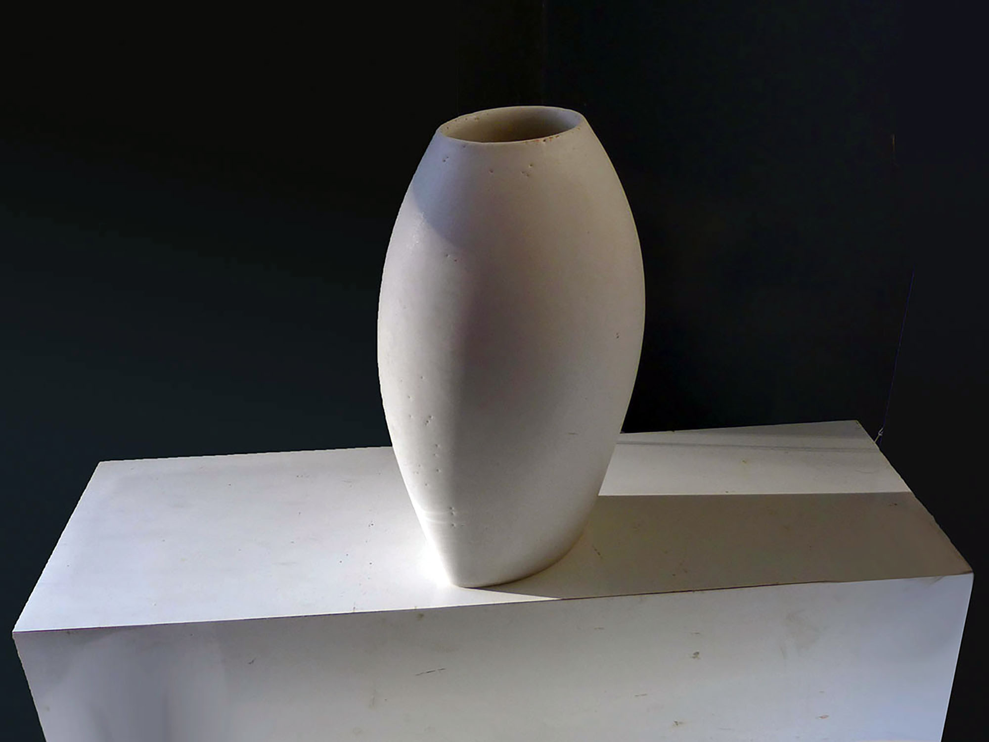 Upside Down Cycladic Vase in White