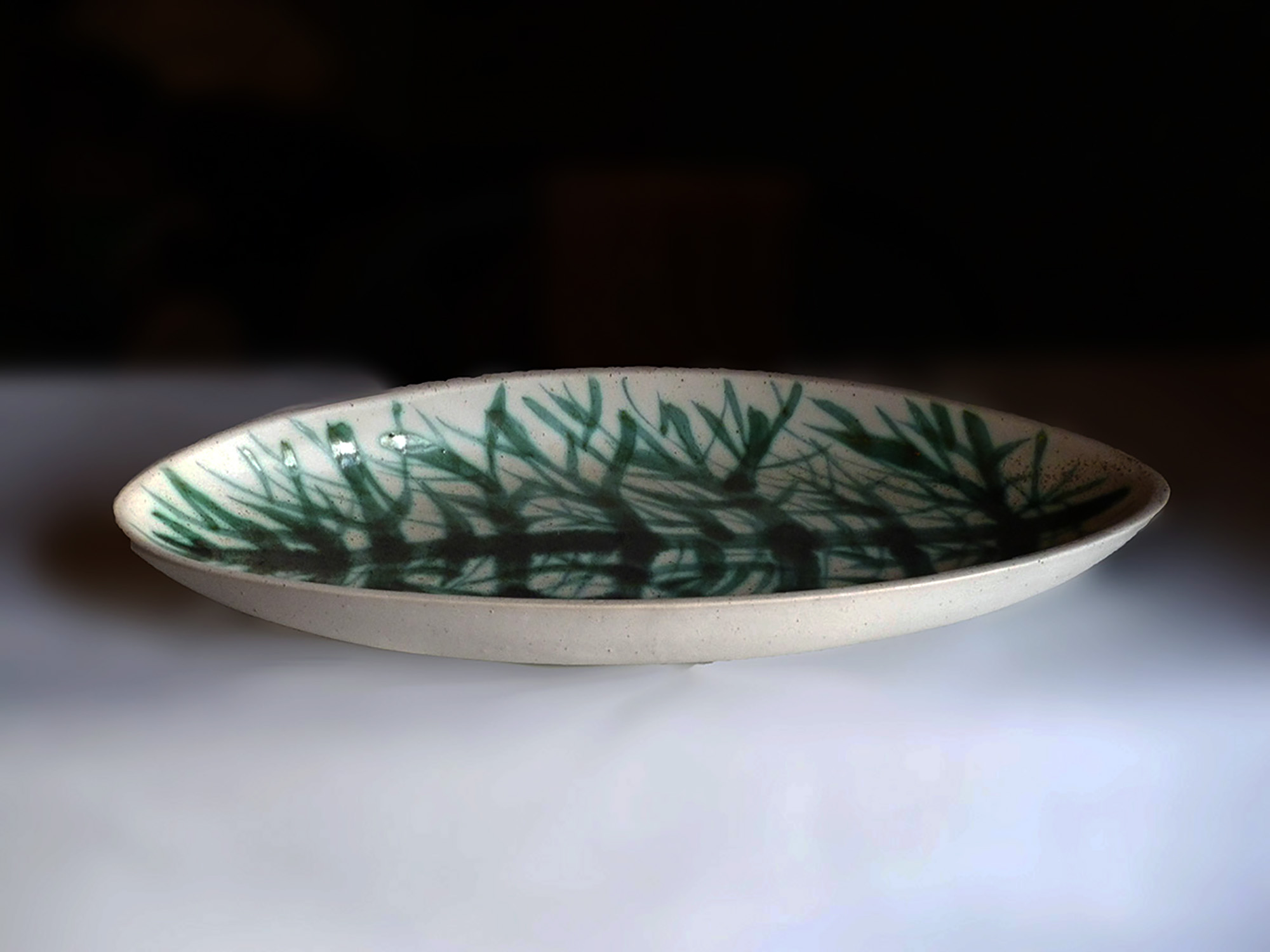 Vintage Primitive Tree Platter by Brenda Andersen
