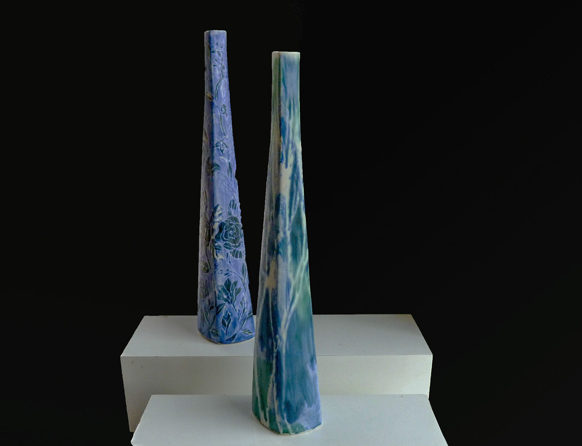 Two Chimney Vases
