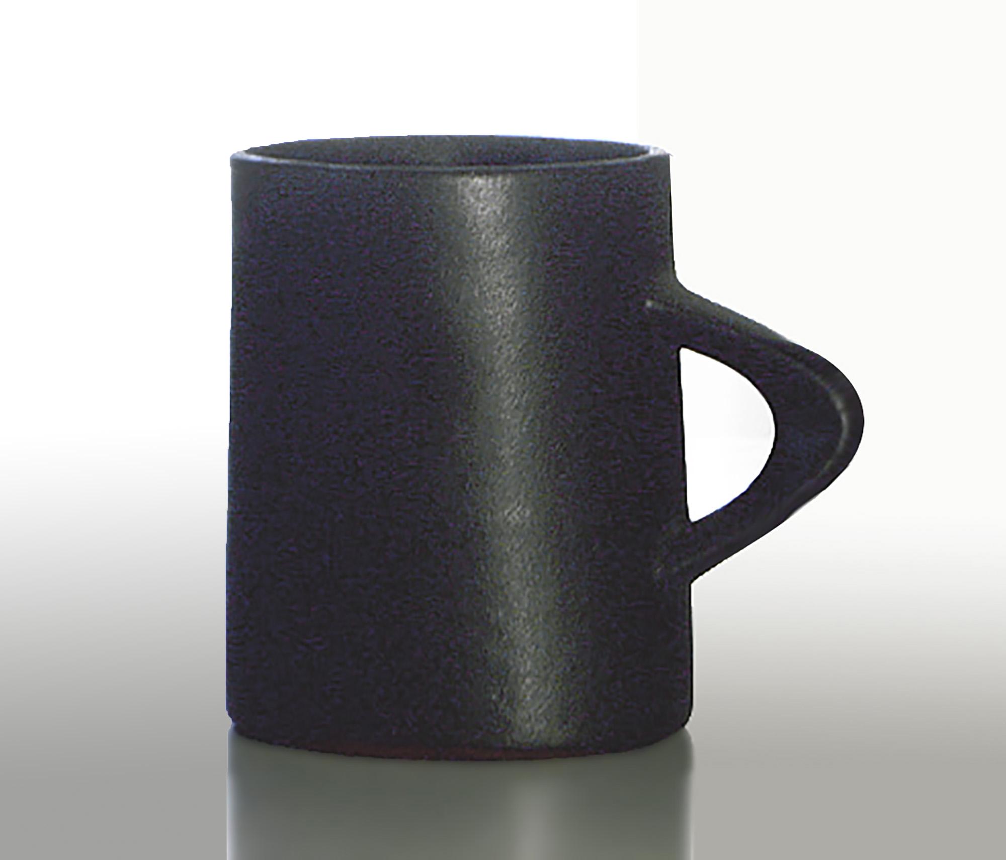 Reversed Oval Mug in Matte Ebony Glaze