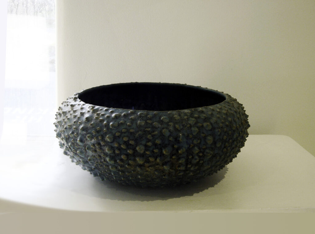 Large Sea Urchin Bowl in Verdigris Glaze by Weston