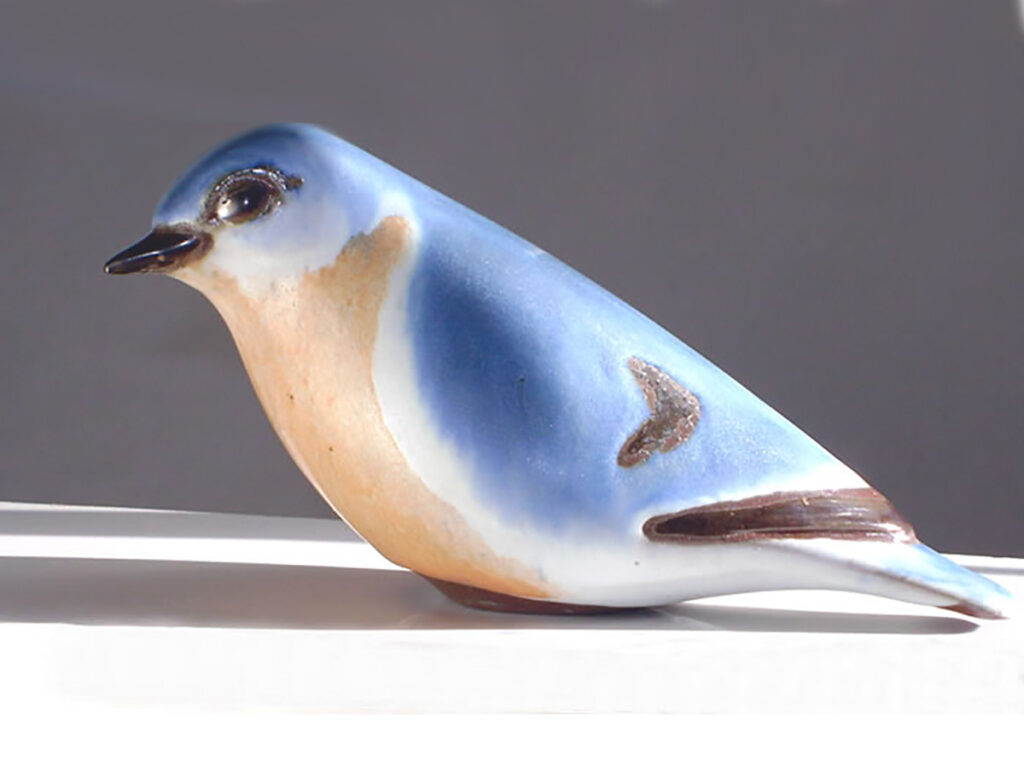Ceramic Eastern Bluebird Long