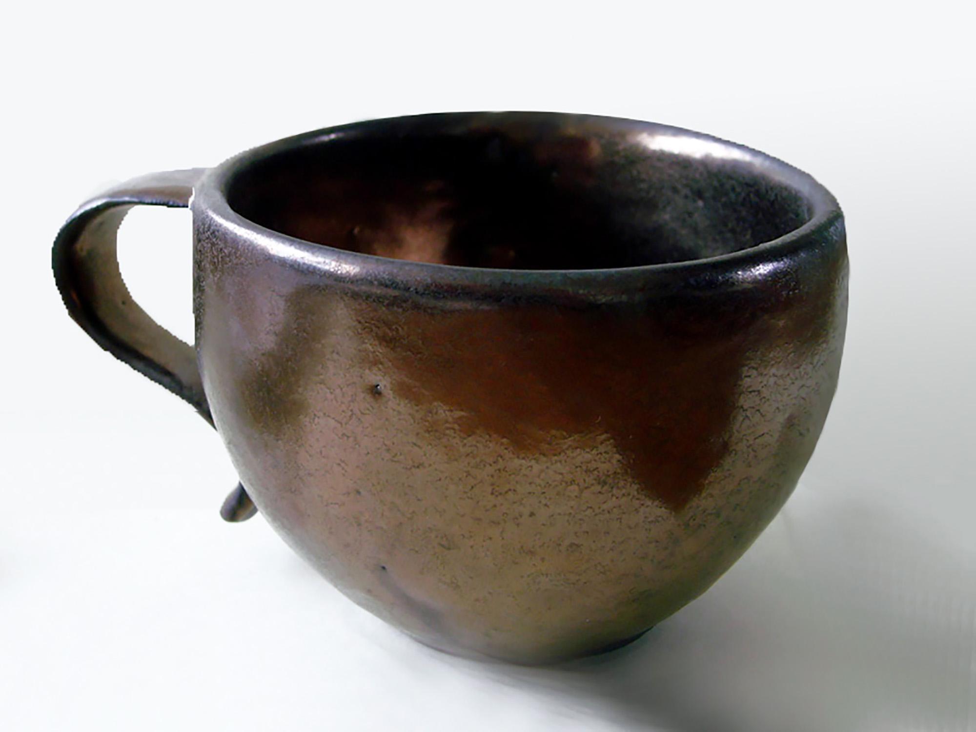 Tea Cup in Bronze Glaze