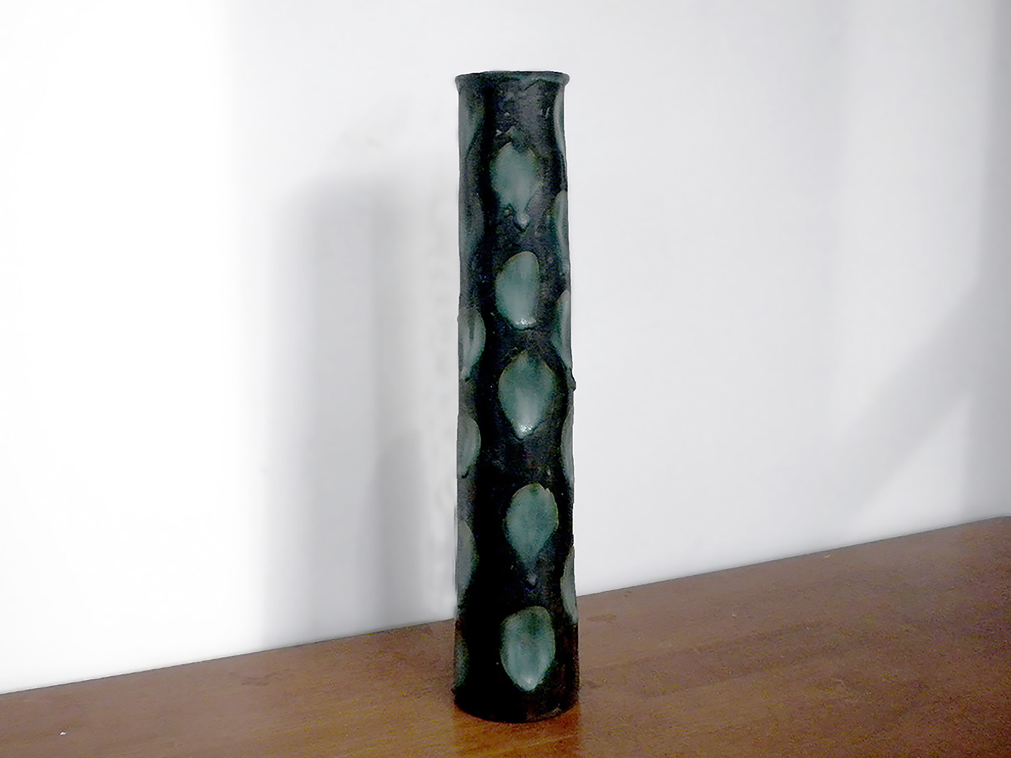 Tall Modulus Vase Green Ebony