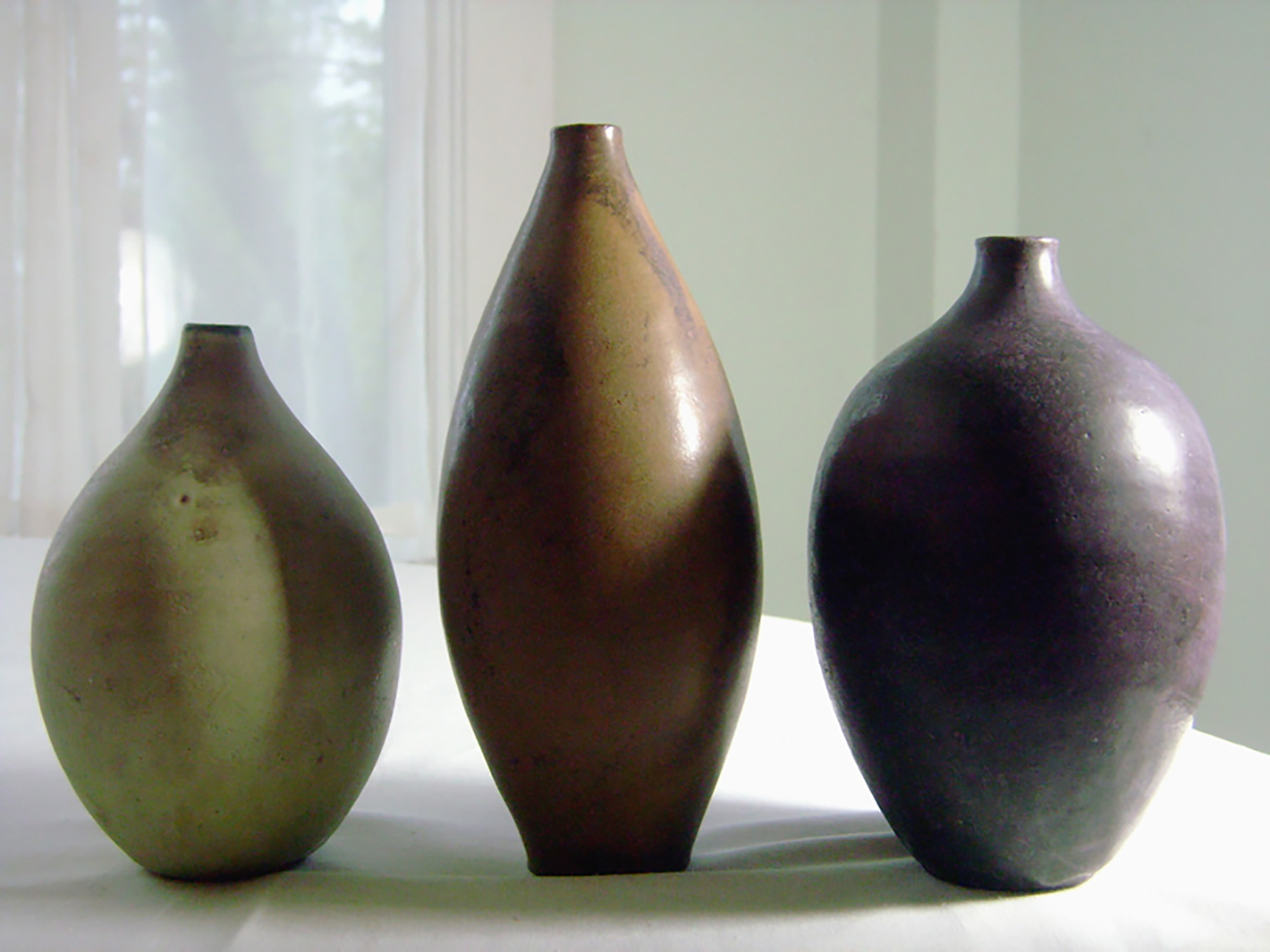 Three Early vases by Weston