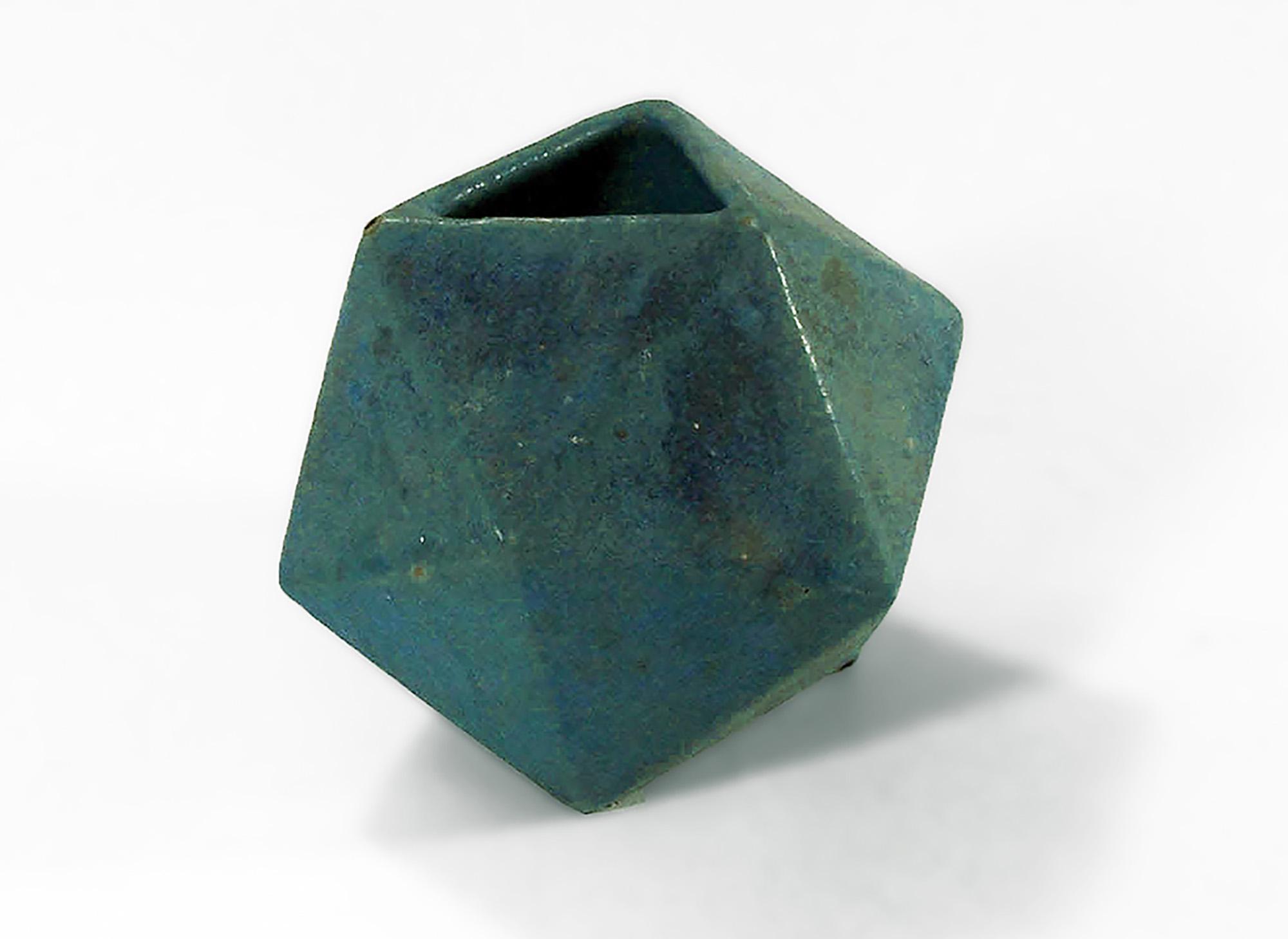 Verdigris Geometric Vase small cr1