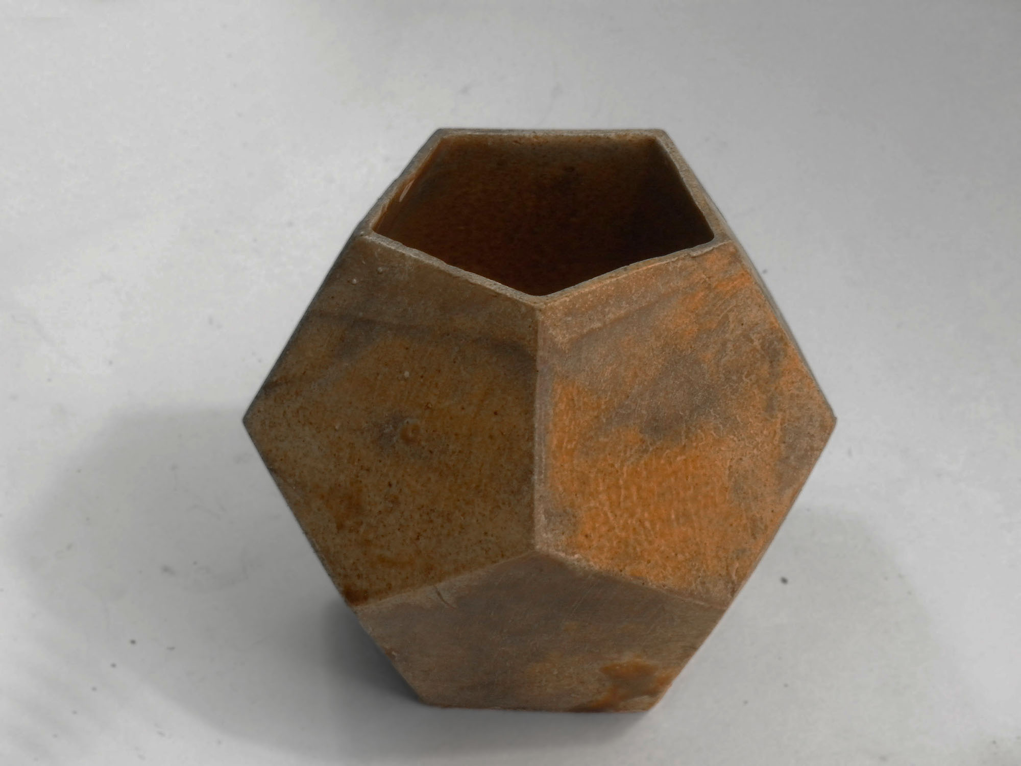 Vintage Geometric Vase Prototype in Brown A