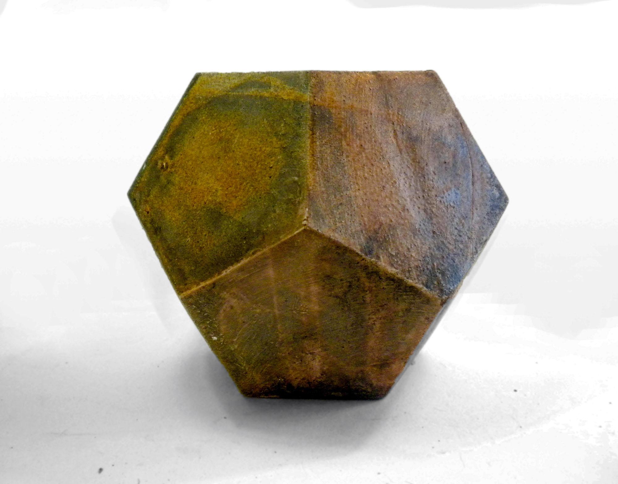 Vintage Geometric Vase Prototype in Brown
