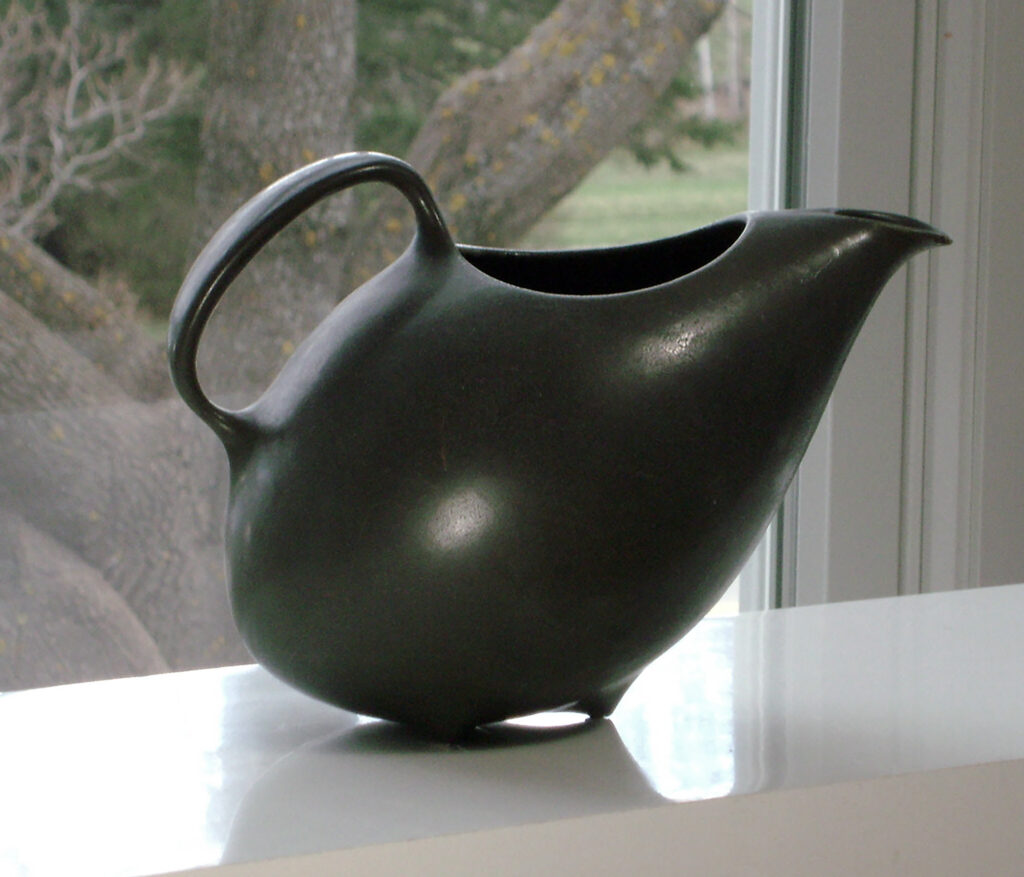 Vintage Pitcher in Matte Ebony Glaze