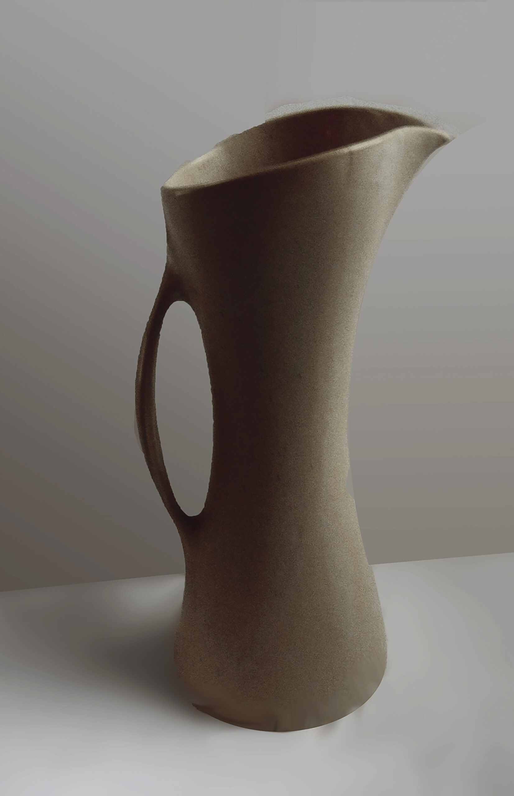 Vintage Pitcher in Yellow Peach Glaze