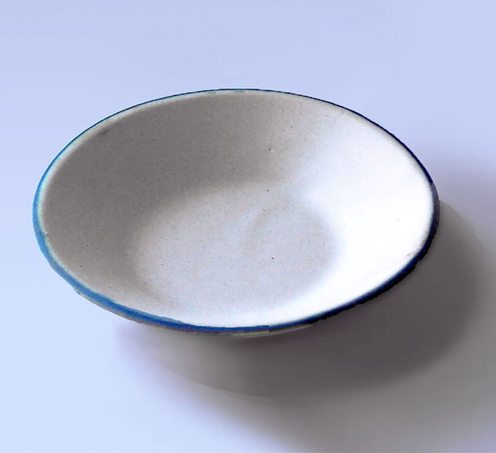 Vintage Small Saucer with Blue Rim