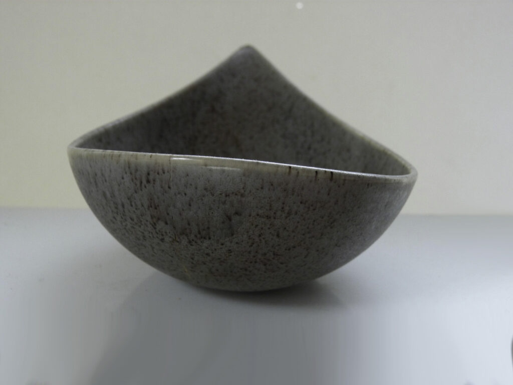 Vintage Candy Dish in Specked Gray Glaze by Weston