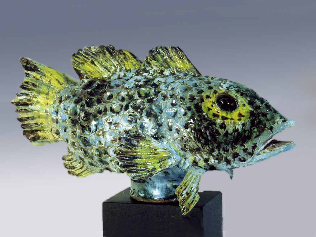 Large fish, by Weston, decorated by Mackenzie