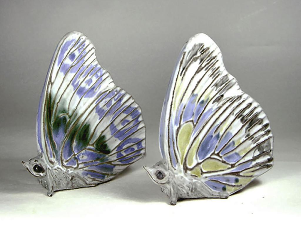 Two Stoneware Butterflies