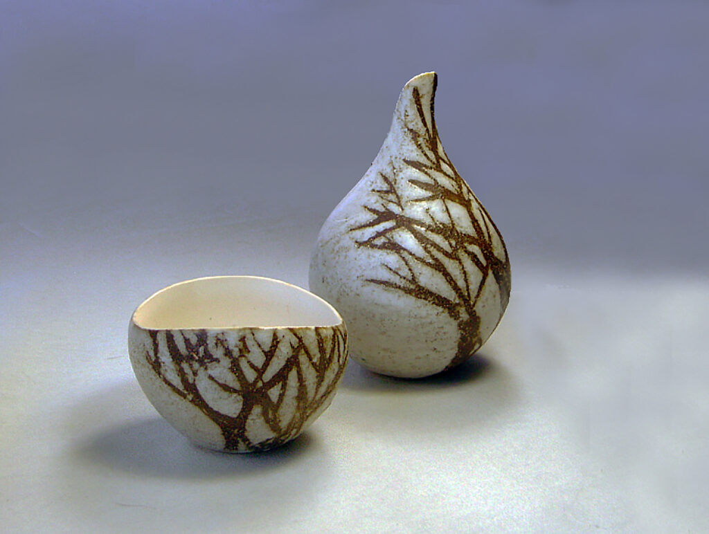 Creamer & Sugar in Brown Tree by Elise